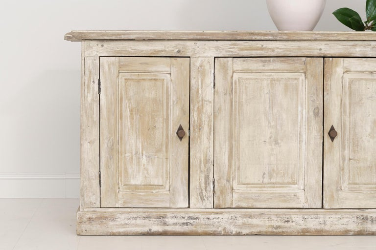 Hand-Crafted 19th Century French Provençal Louis Philippe Style Enfilade in Original Patina For Sale