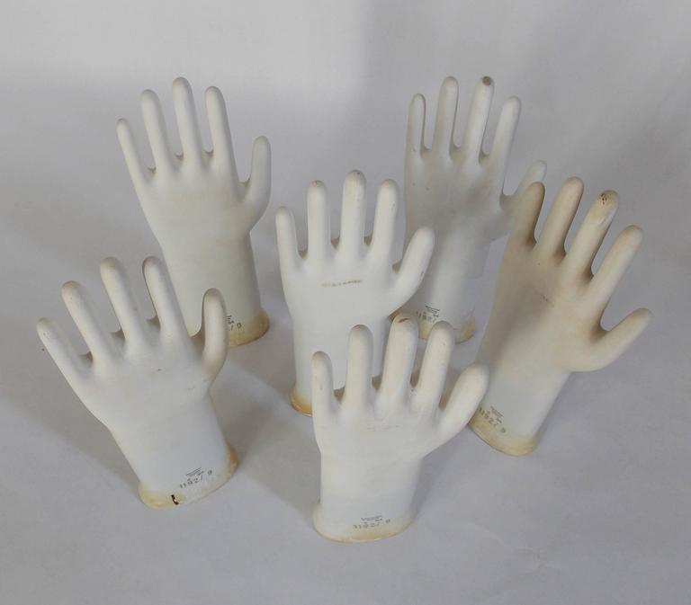 Collection of Mid-Century Modern Industrial German Glove Molds For Sale 2