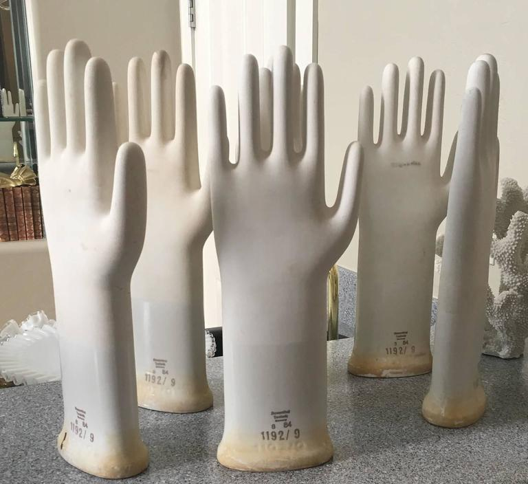 Collection of Mid-Century Modern Industrial German Glove Molds 2