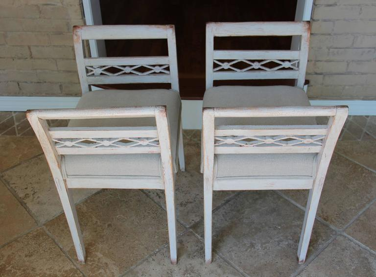 Swedish Pair of Stools in the Gustavian Style, 19th Century Antique 3