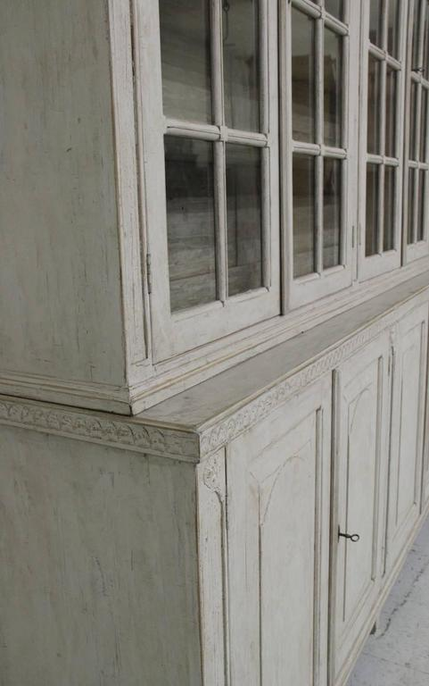 Swedish Late Gustavian Antique Four-Door Glass Vitrine Cabinet, 19th Century 3