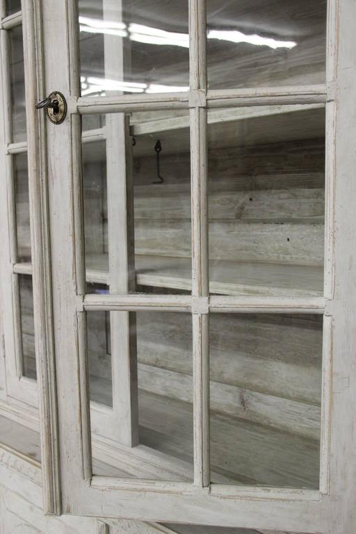 Swedish Late Gustavian Antique Four-Door Glass Vitrine Cabinet, 19th Century 4