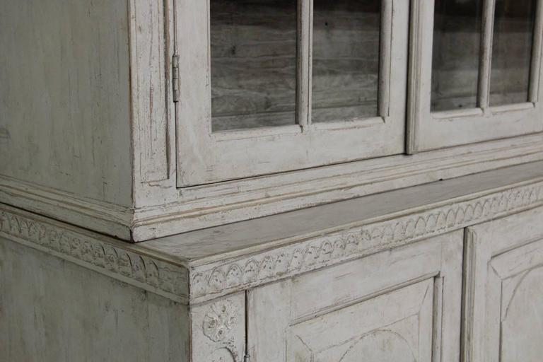 Swedish Late Gustavian Antique Four-Door Glass Vitrine Cabinet, 19th Century 9