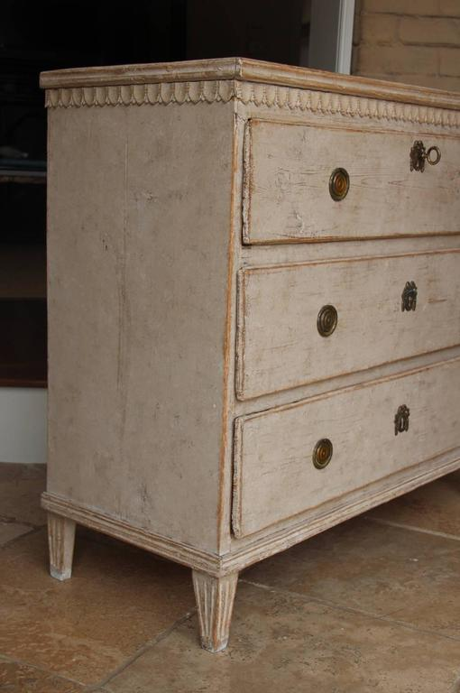 Swedish Gustavian Period Painted Chest, 19th Century Antique 5
