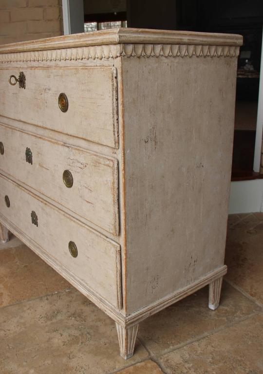 Swedish Gustavian Period Painted Chest, 19th Century Antique 7