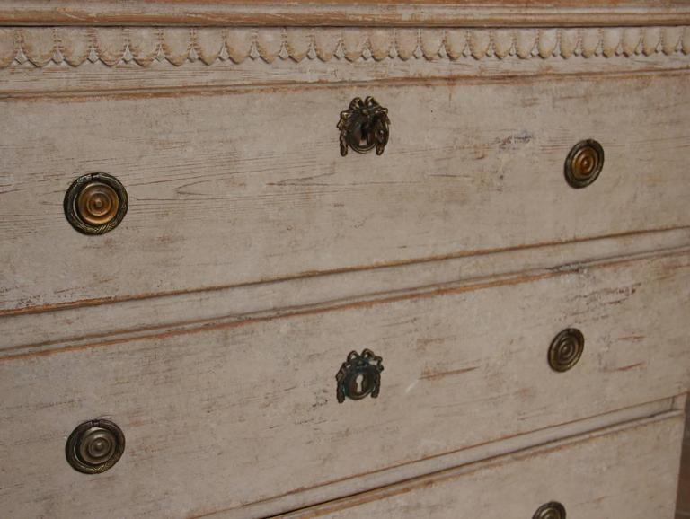 Swedish Gustavian Period Painted Chest, 19th Century Antique 6