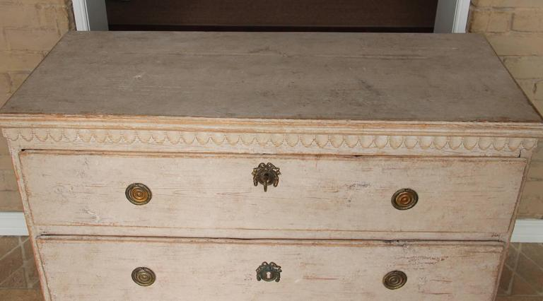 Swedish Gustavian Period Painted Chest, 19th Century Antique 8