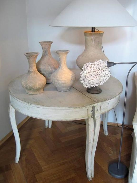 Pair of Swedish Rococo Demilune Bedside Tables or Console Dining Table 4
