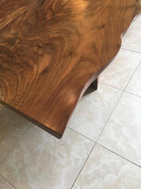 American Black Walnut Dining Table with Butterfly Joinery by Twentieth Studio For Sale 3