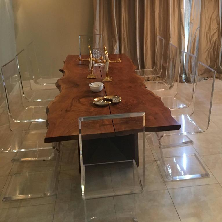 American Black Walnut Dining Table with Butterfly Joinery by Twentieth Studio For Sale 5