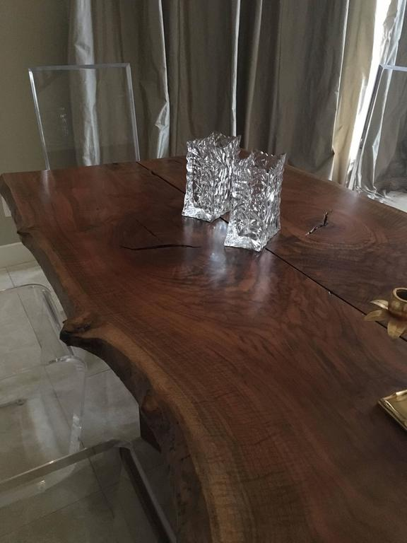 American Black Walnut Dining Table with Butterfly Joinery by Twentieth Studio For Sale 2
