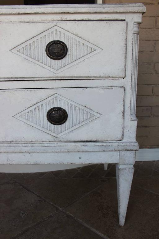 18th Century Swedish Gustavian Period Painted Chest of Drawers 8