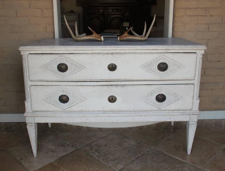 18th Century Swedish Gustavian Period Painted Chest of Drawers 3