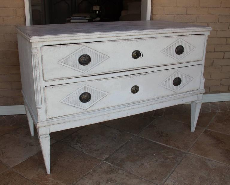 18th Century Swedish Gustavian Period Painted Chest of Drawers 9