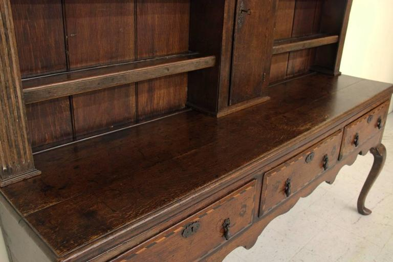 English Georgian Hutch or Welsh Dresser in Two Parts, 18th Century Antique 3