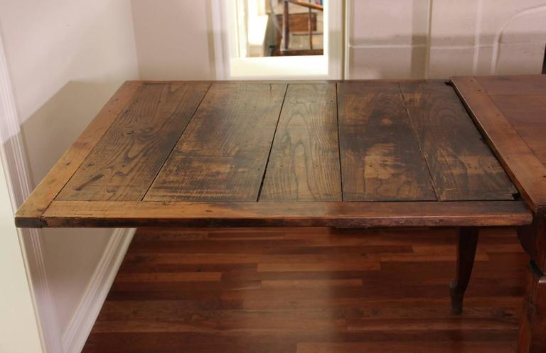 18th Century French Louis XV Antique Cherrywood Double Extension Farmhouse Table For Sale 2