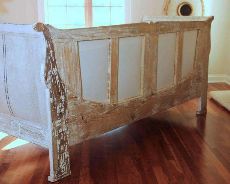 19th Century French Period Empire Daybed Sofa For Sale 5