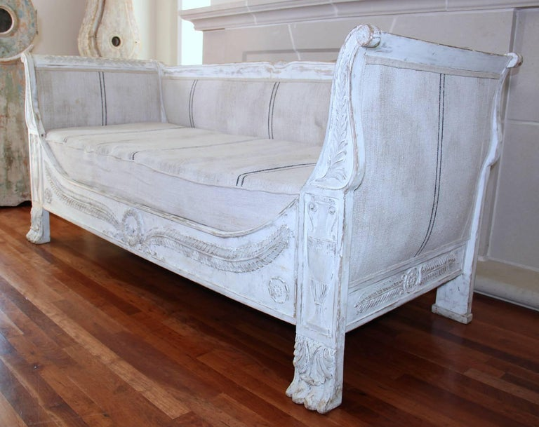 19th Century French Period Empire Daybed Sofa For Sale 4