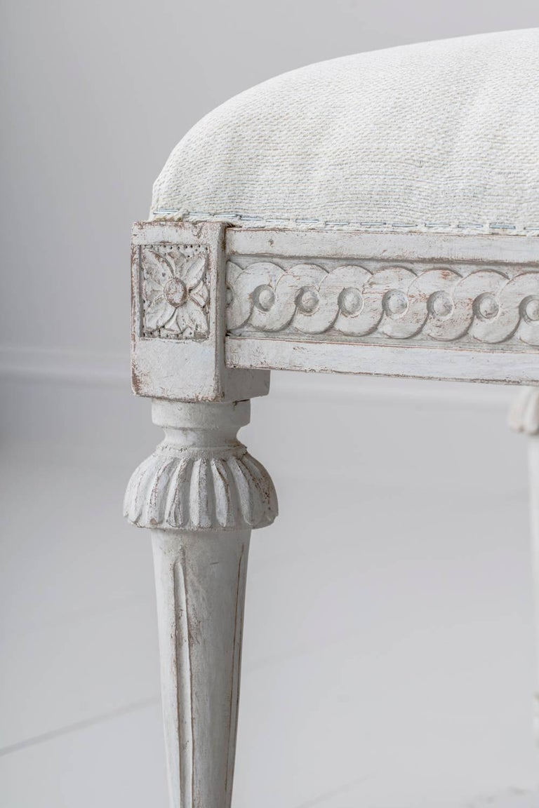 19th Century Pair of Swedish Gustavian Benches For Sale 5