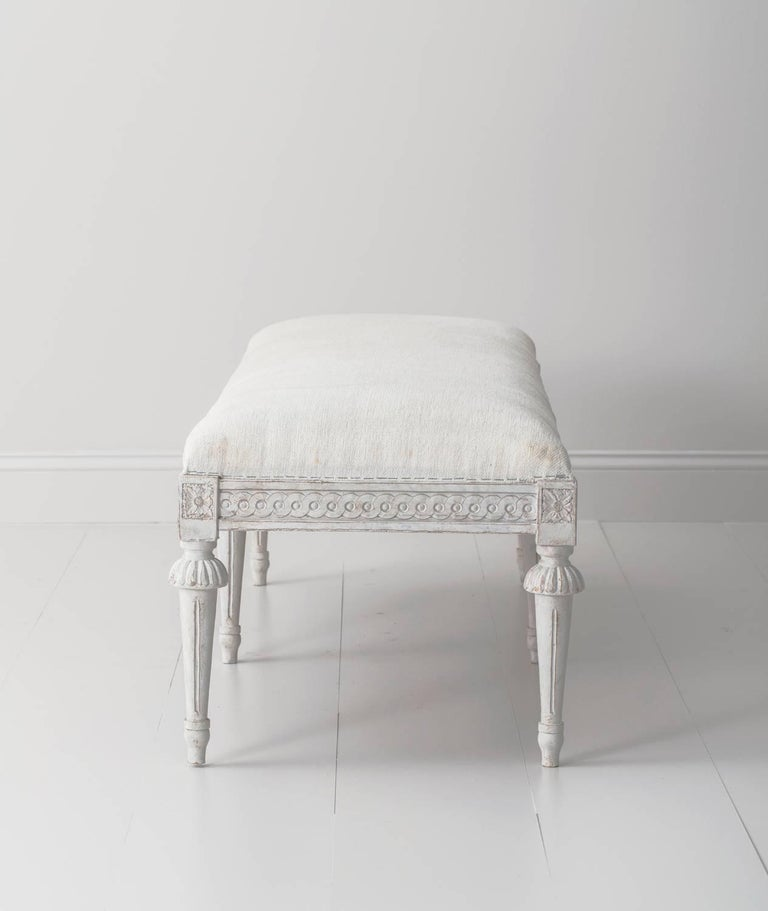 19th Century Pair of Swedish Gustavian Benches In Excellent Condition For Sale In Wichita, KS