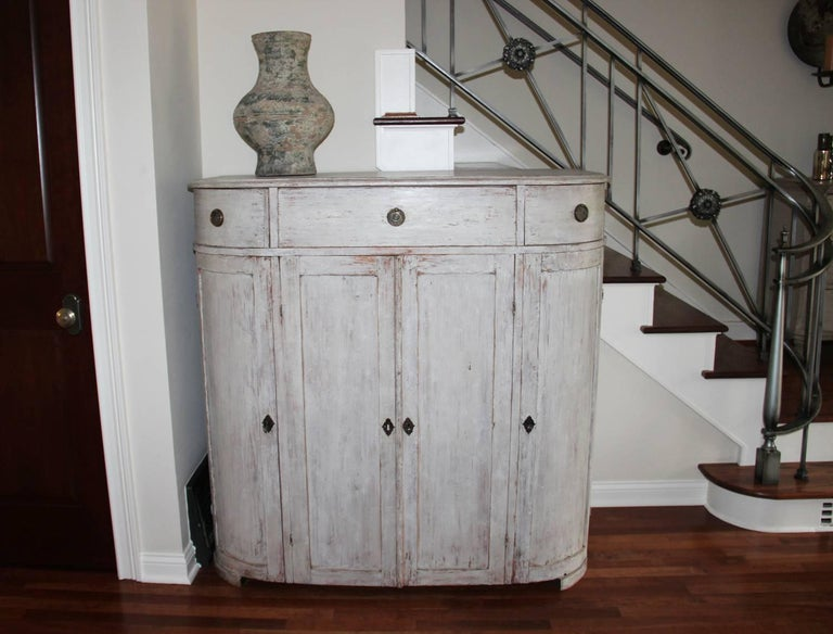 19th Century Swedish Period Gustavian Painted Buffet Cabinet 2