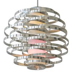 Sciolari Max Sauze Chandelier Modern Ceiling Fixture Italian Design 60s 70s