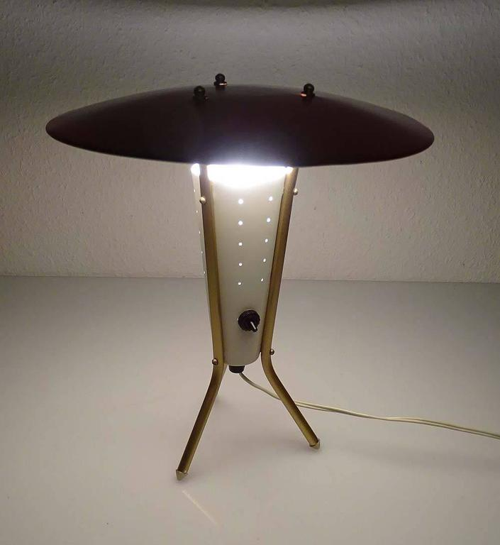 midcentury spindle legs table lamp 1950s modernist design stilnovo style 2