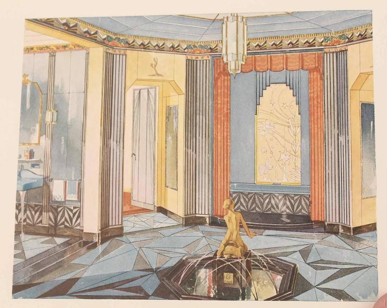1931 art deco modernist interior bathroom design