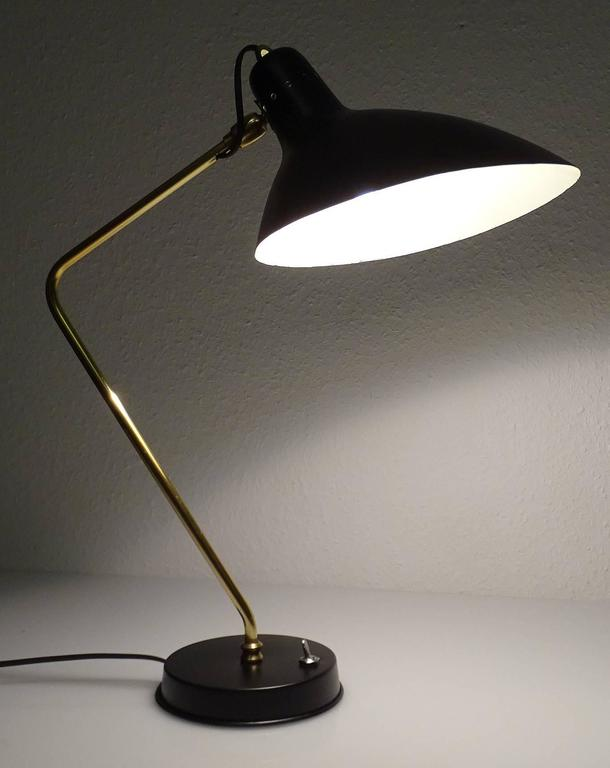 Metal  Large French  MidCentury Boris Lacroix Desk Table Task Lamp,   1960s For Sale