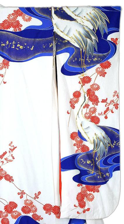 Vintage Silk Gold  Brocade Japanese Ceremonial Kimono, Art Deco Style For Sale 2