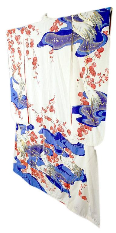Mid-20th Century Vintage Silk Gold  Brocade Japanese Ceremonial Kimono, Art Deco Style For Sale