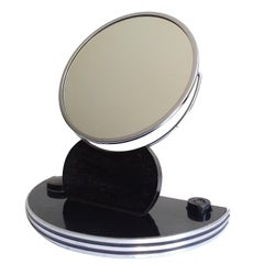 Art Deco Desktop Beauty Parlor Adjustable Mirror, Machine Age, Deskey Rhode Era