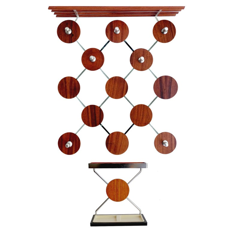 Large Danish Mid-Century Modern Rosewood Coat Rack and Umbrella Stand, 1960s