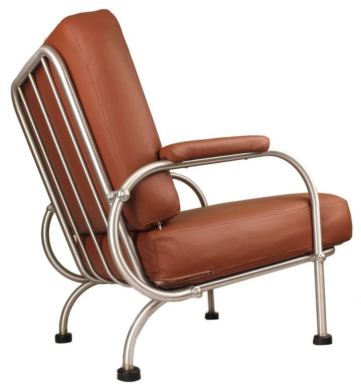 Pair Of Warren McArthur Lounge Chairs 1930s Art Deco Modernist Design For Sa