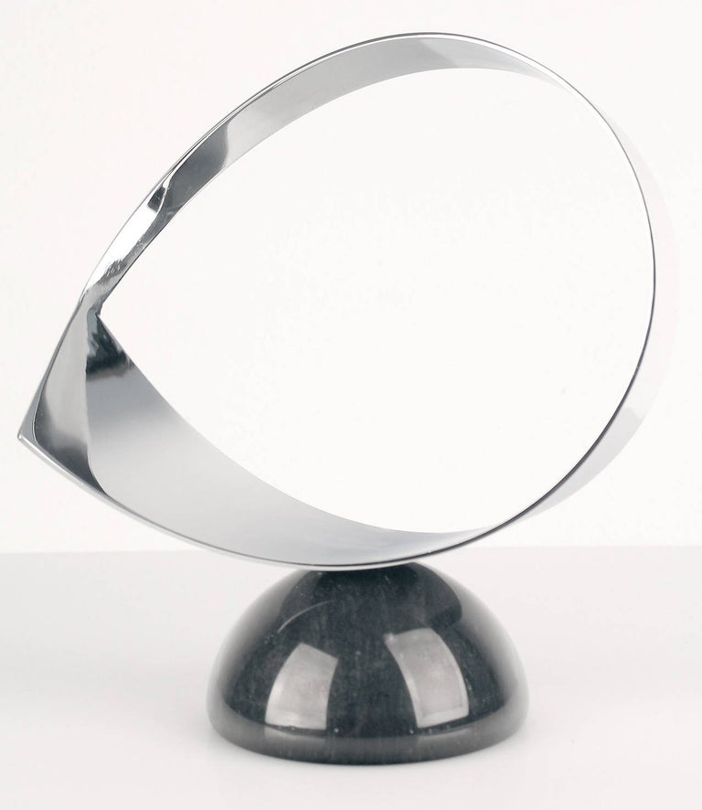Vintage Curtis Jere Chrome and Marble Sculpture, 1960s Modernist Design In Good Condition For Sale In Bremen, DE