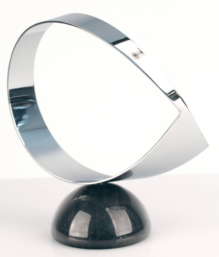 Late 20th Century Vintage Curtis Jere Chrome and Marble Sculpture, 1960s Modernist Design For Sale