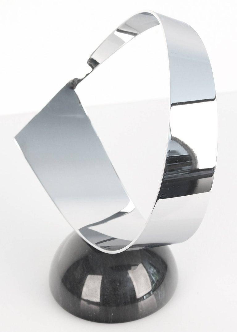 Vintage Curtis Jere Chrome and Marble Sculpture, 1960s Modernist Design For Sale 1