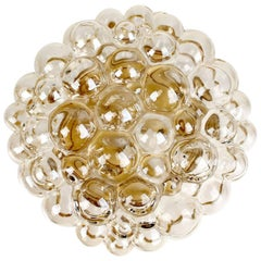Midcentury Limburg Bubble Glass Sconce Flush Mount Light, 1960s