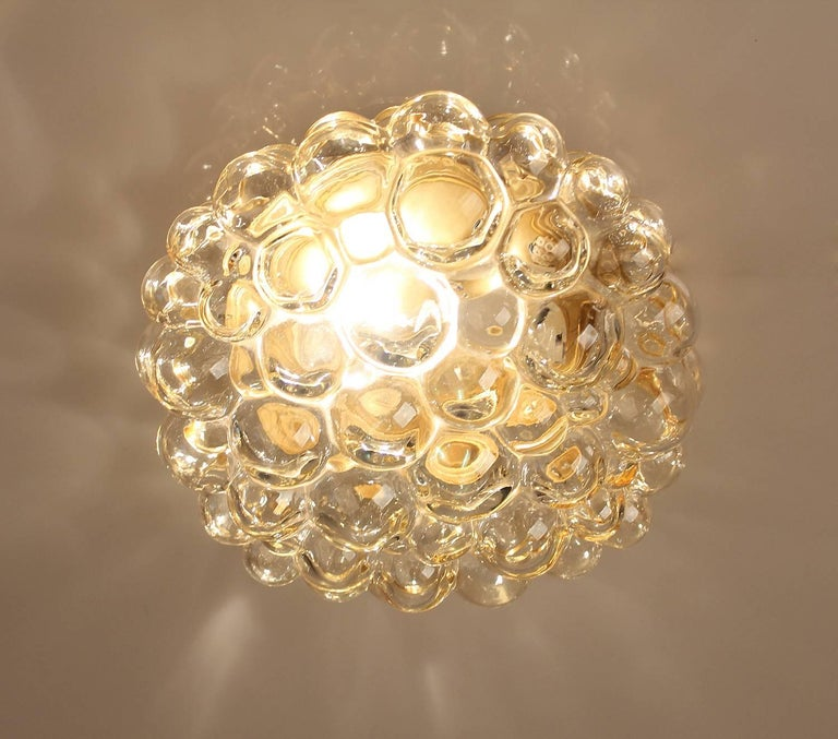 Midcentury Limburg Bubble Glass Sconce Flush Mount Light, 1960s For Sale 3