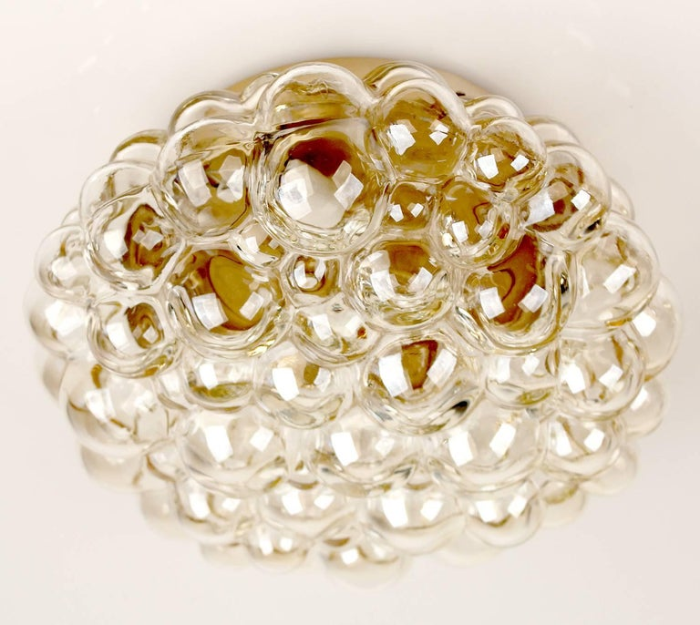 Midcentury Limburg Bubble Glass Sconce Flush Mount Light, 1960s For Sale 4