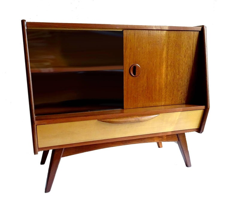Midcentury Danish Modern Webe Van Teeffelen Sideboard Cabinet, 1960s In Good Condition For Sale In Bremen, DE
