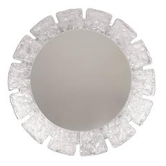 Flower Sunburst Lit-Up Wall Mirror