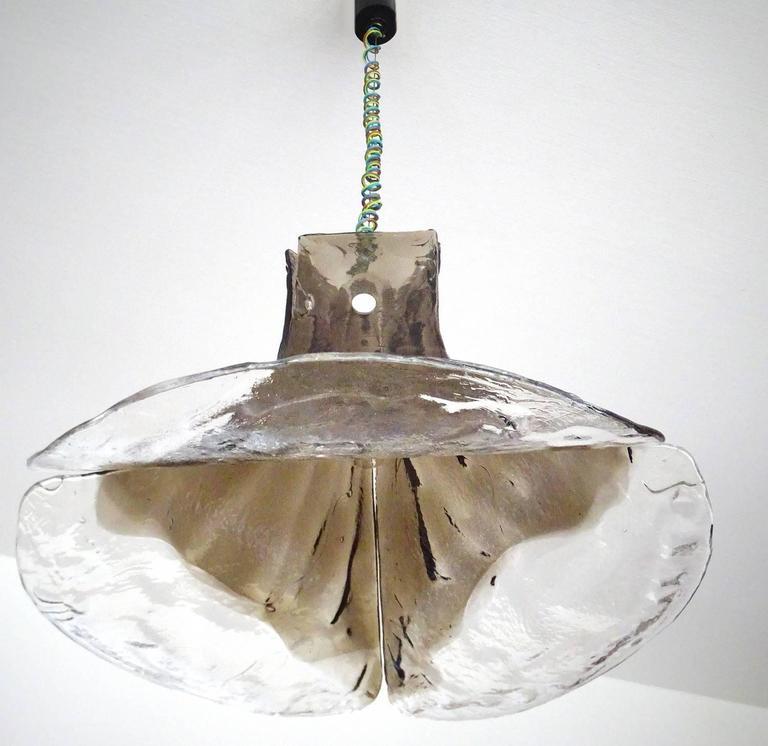Carlo Nason Mazzega Murano Glas Chandelier , 1960s Modernist Pendant Lamp  8