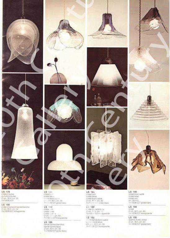 Carlo Nason Mazzega Murano Glas Chandelier , 1960s Modernist Pendant Lamp  9