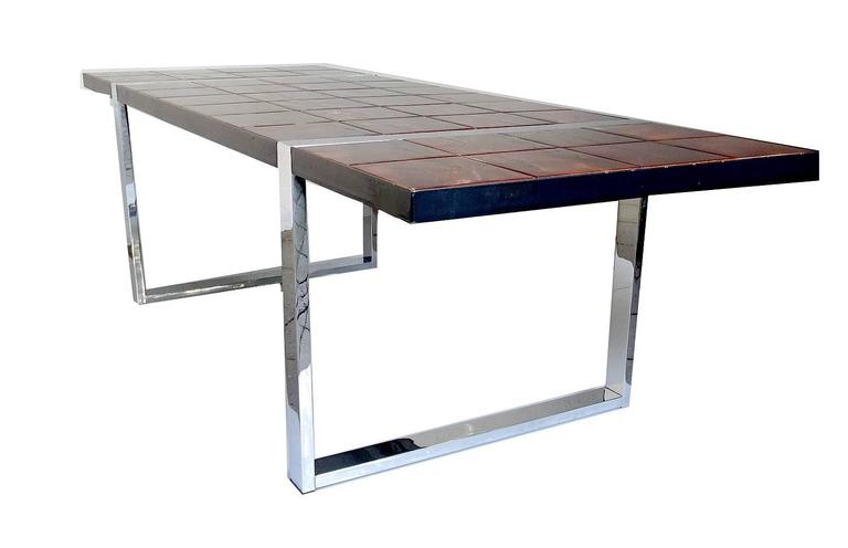 Large 1960s Mid Century Side Coffee Table, 1960s Modernist Design, Capron Era 4