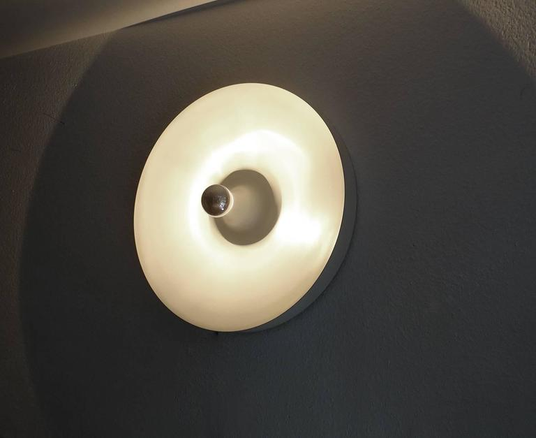 Wall Lights For Large Spaces : Pair Very Large Space Age Disc Sconces Wall Lamps, 1970s Modernist Design at 1stdibs
