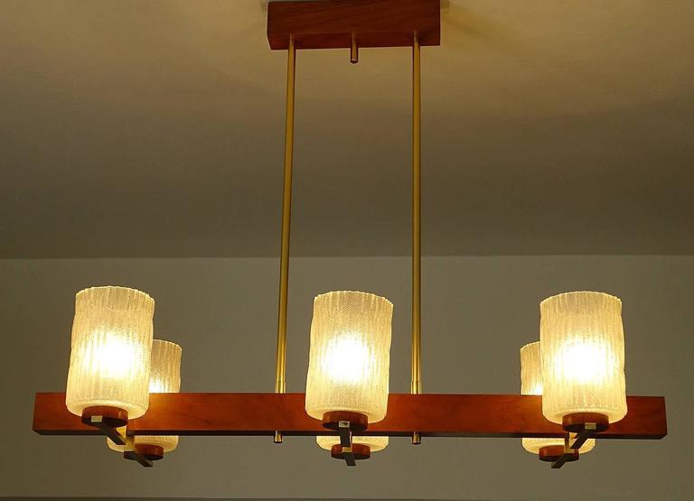 Very large mid century danish modern chandelier 1960s for Very modern lighting