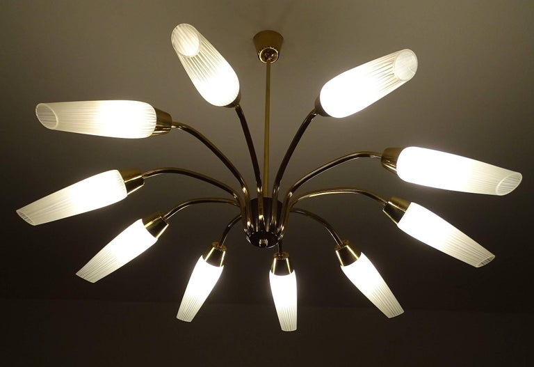 Austrian Large Italian Sputnik Chandelier For Sale