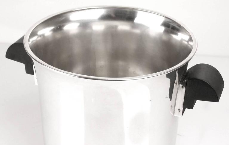 French Art Deco Champagne Ice Bucket Wine Cooler, 1930s Modernist Cubist Design 4