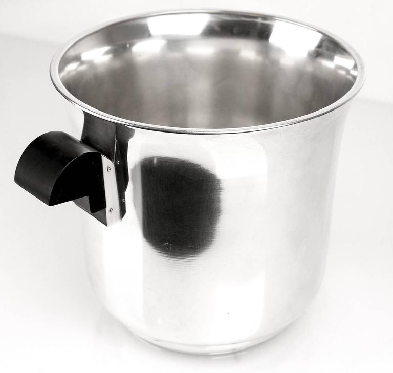 French Art Deco Champagne Ice Bucket Wine Cooler, 1930s Modernist Cubist Design 3